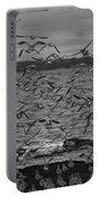 Wading Birds-black And White Portable Battery Charger