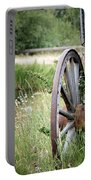 Wagon Wheel In Grass Portable Battery Charger