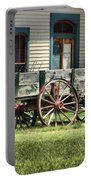 Wagon Wheels In Dodge City Portable Battery Charger