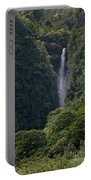 Wailua Stream Waiokane Falls View From Wailua Maui Hawaii Portable Battery Charger
