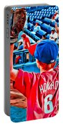 Waiting For A Foul Ball Portable Battery Charger