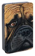 Waiting Bullmastiff Drawing Portable Battery Charger by Michelle Wrighton