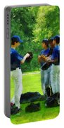 Waiting To Go To Bat Portable Battery Charger by Susan Savad