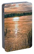Walden Ponds Sunset  Portable Battery Charger