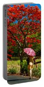 Walking Along The Road. Mauritius Portable Battery Charger
