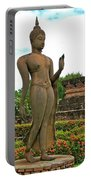 Walking Buddha Image In Wat Sa Si In Sukhothai Historical Park-t Portable Battery Charger