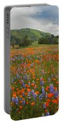 Walking In The Wildflowers Portable Battery Charger