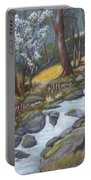 Walking In The Woods One Day Portable Battery Charger