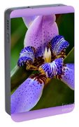 Walking Iris With Purple Border Portable Battery Charger
