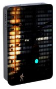 Walking Man - Architecture Of New York City Portable Battery Charger