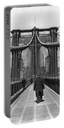 Walking On The Brooklyn Bridge Portable Battery Charger