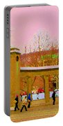 Walking Sherbrooke By Roddick Gates Mcgill Campus View Of Mont Royal Montreal Scenes Carole Spandau  Portable Battery Charger