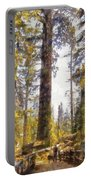 Walking Small In The Tall Forest Portable Battery Charger