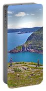 Walking Trails Everywhere In Signal Hill National Historic Site In St. John's-nl  Portable Battery Charger