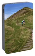 Walking Up Mam Tor Portable Battery Charger