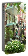 Walking Verdun In Summer Winding Staircases And Pathways Urban Montreal City Scenes Carole Spandau Portable Battery Charger