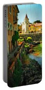 Walkway Along The River - Cascais Portable Battery Charger