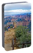 Walkway Out On Point Imperial At 8803 Feet On North Rim Of Grand Canyon National Park-arizona  Portable Battery Charger