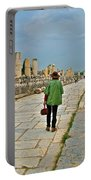 Walkway To Harbor In Ephesus-turkey Portable Battery Charger