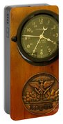 Wall Clock And Plague Portable Battery Charger