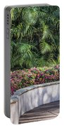 Wall Of Flowers Portable Battery Charger