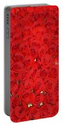 Wall Of Red Roses Portable Battery Charger