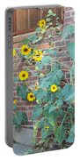 Wall Of Sunflowers 1 Portable Battery Charger