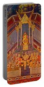 Wall Painting 3 At Wat Suthat In Bangkok-thailand Portable Battery Charger