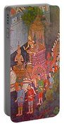 Wall Painting At Wat Suthat In Bangkok-thailand Portable Battery Charger