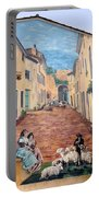 Wall Painting In Provence Portable Battery Charger