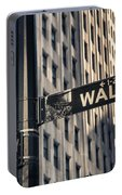 Wall Street Sign Portable Battery Charger
