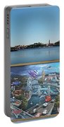 Walt Disney World Cars 2 Digital Art Composite 02 Portable Battery Charger