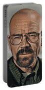 Walter White Portable Battery Charger by Paul Meijering