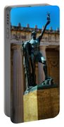 War Memorial Statue Youth In Nashville Portable Battery Charger