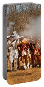 War - Revolutionary War - The Musket Drill Portable Battery Charger by Mike Savad