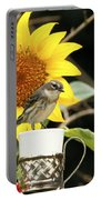 Sunflower And Warbler Bird Portable Battery Charger
