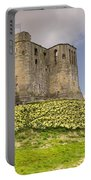 Warkworth Castle With  Daffodils Portable Battery Charger