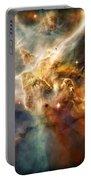 Warm Carina Nebula Pillar 3 Portable Battery Charger by Jennifer Rondinelli Reilly - Fine Art Photography