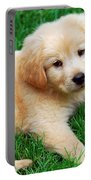 Warm Fuzzy Puppy Portable Battery Charger by Christina Rollo