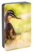 Warm Summer Morning And A Duck Portable Battery Charger