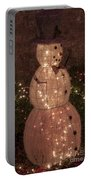 Warm Weather Snowman Portable Battery Charger