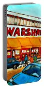 Warshaws Paintings Famous Fruit Store Main Street Montreal Art Prints Originals Commissions Cspandau Portable Battery Charger