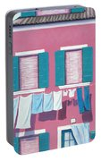 Washing Day Burano Venice Portable Battery Charger