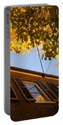 Washington D C Facades - Reflecting On Autumn In Georgetown  Portable Battery Charger