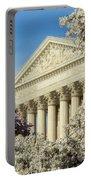 Washington Dc Cherry Blossom Supreme Court Portable Battery Charger