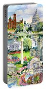 Washington Dc Painting Portable Battery Charger