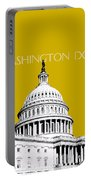 Washington Dc Skyline The Capital Building - Gold Portable Battery Charger