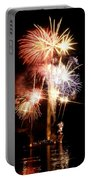 Washington Monument Fireworks 2 Portable Battery Charger by Stuart Litoff