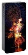 Washington Monument Fireworks 3 Portable Battery Charger by Stuart Litoff