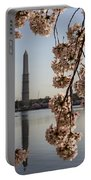 Washington Monument Framed By Blossoms Portable Battery Charger